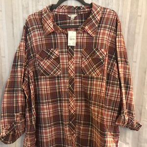 Cato plaid button up